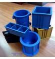 6 loại khuôn đúc mẫu bê tông bằng nhựa (khuôn đúc mẫu giá rẻ)